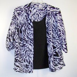 JMS Just My Size Animal Print Layered Look Top 1X